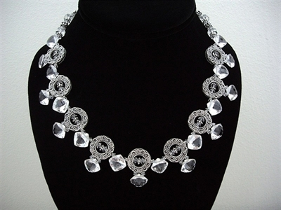 Picture of Clear Quartz, Swarovski Crystals and 925 Silver Components