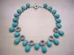 Picture of Blue Howlite, Swarovski Crystals and 925 Silver Components