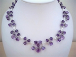 Picture of Amethyst, Swarovski Crystals and 925 Silver Components