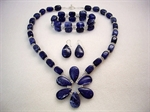 Picture of Sodalite, Swarovski Crystals and 925 Silver Components