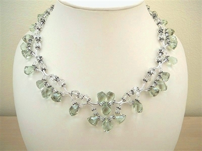 Picture of Green Amethyst, Swarovski Crystals and 925 Silver Components