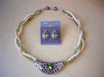 Picture of Peridot, Fresh Water Pearls and 925 Silver Components