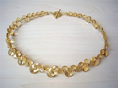 Picture of Citrine and 24 carat Gold plated Components
