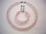 Picture of Rose Quartz, Fresh Water Pearls and 925 Silver Components