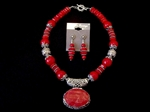 Picture of Red Sponge Coral and 925 Silver Components 83.1. Unnamed