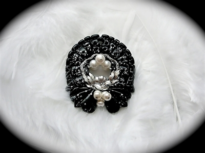 Picture of Polymer clay, metal component and Pearls.