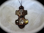 Picture of Polymer clay,Swarovski and metal components.