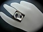 Picture of Swarovski Rhodium ring.