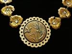 Picture of Brass necklace & Swarovski