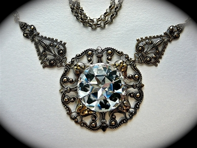 Picture of Swarovski and metal components.