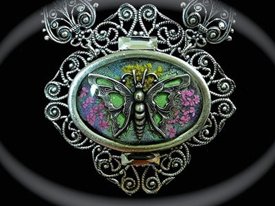 Picture of Antique Silver Brass & Swarovski
